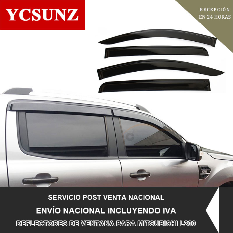 2016 2019 Side Window Deflectors For Mitsubishi L200 Pickup Black Color Car Wind Deflector Guard For