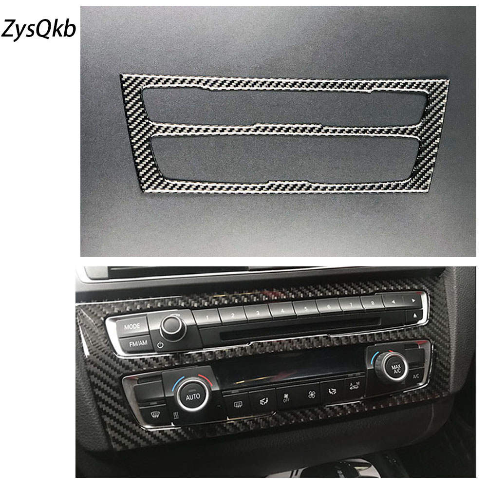 For BMW F20 F21 Carbon Fiber Car Interior Air Conditioning CD Control Panel Cover Trim Car Styling Stickers 1 Series Accessories