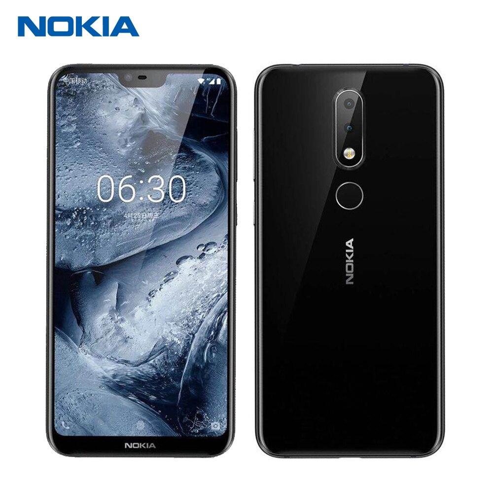 Nokia X6 64g 6g Mobile Phone 5.8 Snapdragon 636 Impressão Digital Octa Dual Core Android Câmera Traseira