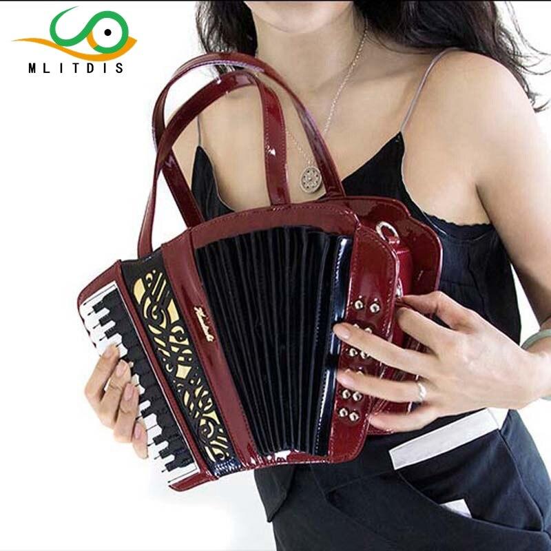 ФОТО MLITDIS 2017 new accordion musical instrument package women's handbag shoulder  handbag travel Creative Bags art female