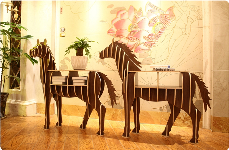 49 Height Wooden Horse Home Decor Shelf Bookcase Coffee Table DIY Self-build Living room Puzzle Furniture FREE SHIPPING cambridge yearbook of european legal studies 2011 2012 volume 14