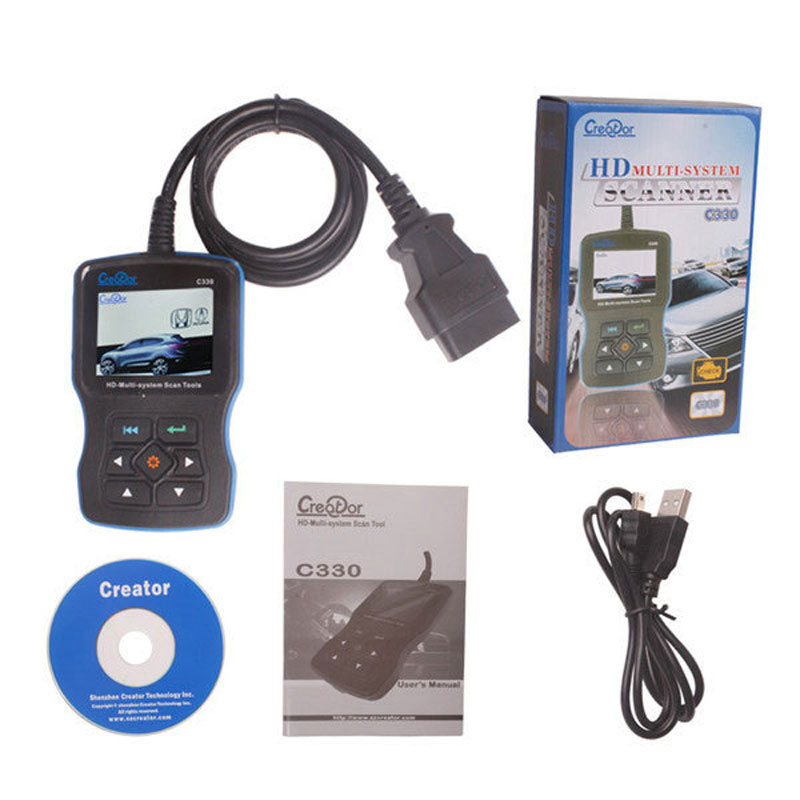 Hand-held Original obd2 Scanner Creator C330 OBDII Multi-system Scan tool C330 Auto diagnostic tool interface OBDII Code reader
