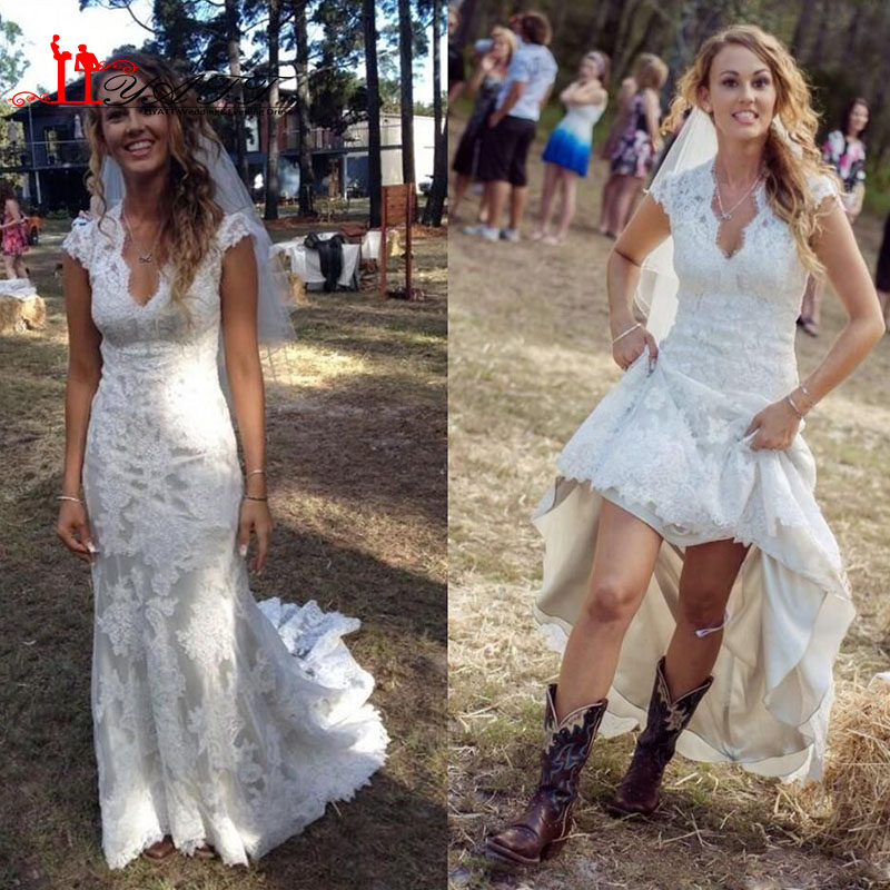 Aliexpress.com : Buy Vintage High Low Wedding Dresses