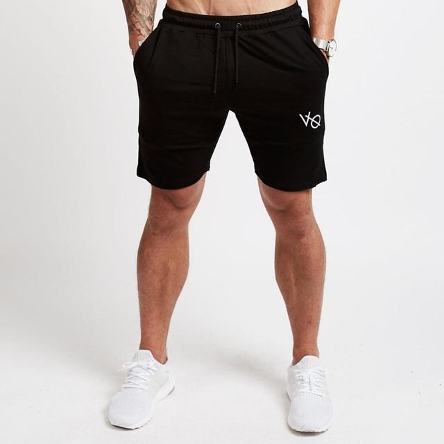 599f91795 Hombre corriendo deportes pantalones cortos de algodón gimnasio  entrenamiento ropa deportiva hombre pantalones cortos de la