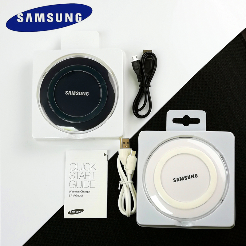 Samsung Qi Wireless Charger Original Micro Usb Cable Wireless Charger For Galaxy S7 Edge S8 S9 S10 S10e Note 4 5 7 8 Mobliephone(China)