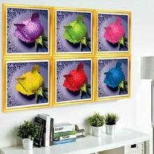 5D Colorful Rose DIY diamond Embroidery Living Room Diamond Painting Cross Stitch Kit Embroidery Diamond Needlework Random Color
