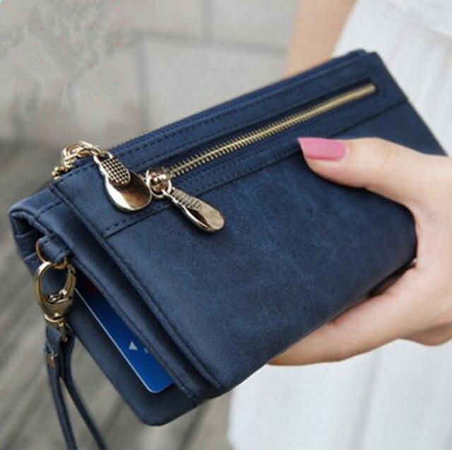 d650fa3d74 Long Women Wallet Luxury Famous Brands Designer Female Bag Ladies Cute  Women's PU Leather Purse Carteras