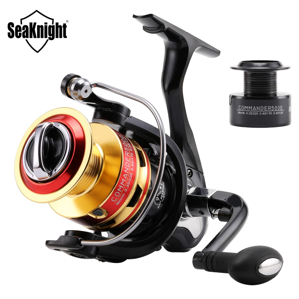 SeaKnight 5.2:1/4.7:1 COMMANDER2000 3000 4000 5000 Spinning Fishing Reel 10BB Spinning Wheel Fishing Tackle +1P Free Spare Spool|reel 10bb|fishing reelspare spool - AliExpress