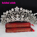 Clear Crystal Tiara Vintage Huge Bridal Wedding Hair Accessories Quinceanera Tiaras And Crowns Diamante Tiara Noiva