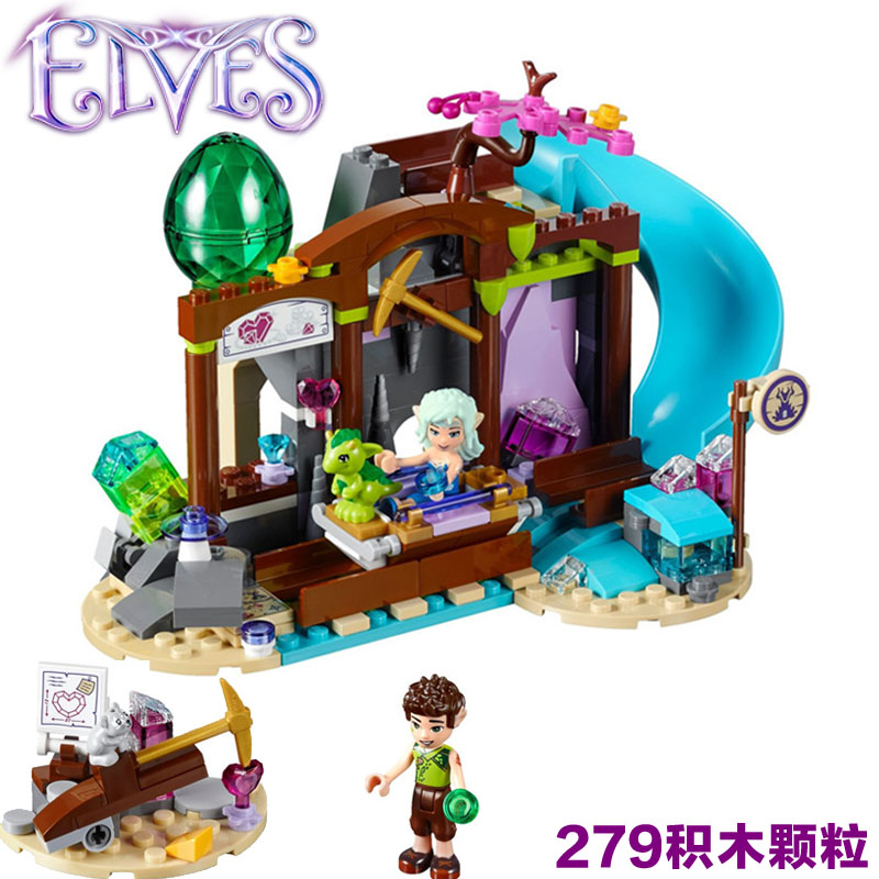 BELA Building Block 10548 Compatible with Elves The Elite Series Precious Crystal Mine 41177 Fairy Figure Toys for Children 10548 elves the precious crystal mine building block set naida farran figures baby dragon toys for children compatible 41177