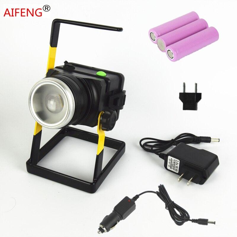 30w 2400lm led spot light portable spotlights hunting spotlight 18650 handheld DC 12V 24V CAR charging charger with battery