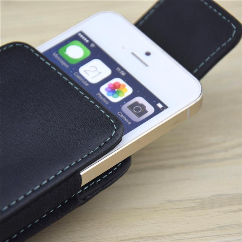 half off 6a316 ebad4 HATOLY For iPhone 5 5C 5SE 5S Leather Case 360 Rotatable Belt Clip Holster  Flip Vertical Cover For 4.0
