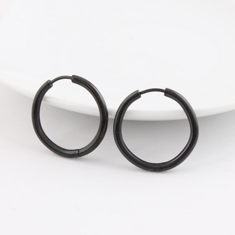 e81f2c6fb Alisouy hiphop Men titanium Ear jewelry Stud Sleeper Earrings Piercing  simple stud earrings 10/12/14/16/20mm push back earrings