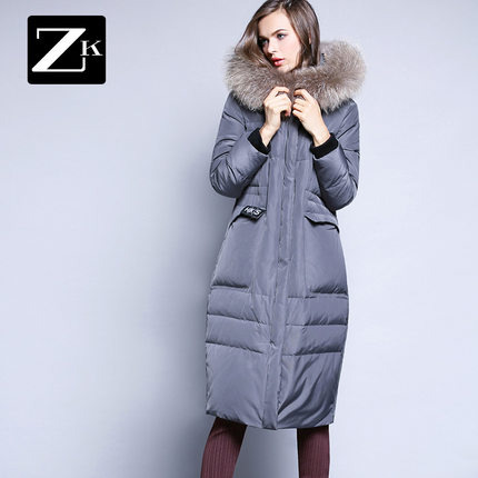 2016 new hot winter Thicken Warm woman Down jacket Coats Parkas Outerwear Hooded Raccoon Fur collar long plus size  Straight цены онлайн