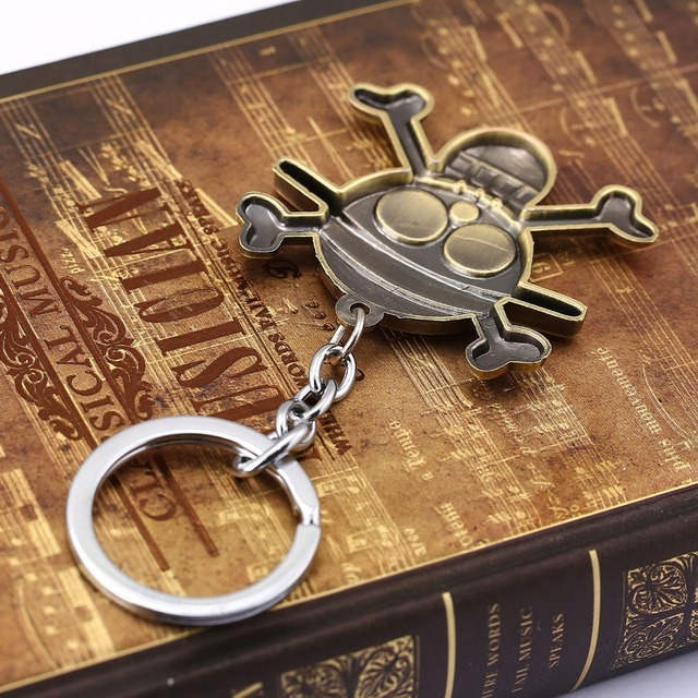 Anime One Piece Bronze Key Chain Pendant