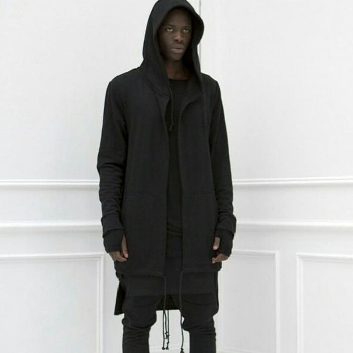 HTB187NSdv1H3KVjSZFHq6zKppXaM Newly Men Hooded Gown Hip Hop Mantle Coat Hoodies Loose Sweatshirts Long Sleeves Cloak Autumn Winter Outwear DOD886