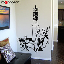Nautical Home Decor Landscape Lighthouse Light Sea Water Vinyl Wall Sticker Art Decals Mural Room Design Pattern Wallaper 3140