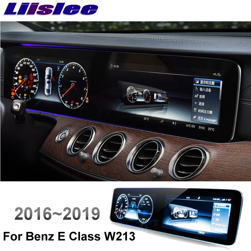 Liislee Car Multimedia Player NAVI +CarPlay For Mercedes Benz MB E Class W213 E200 E300 2016~2019 Car Radio GPS MAP Navigation