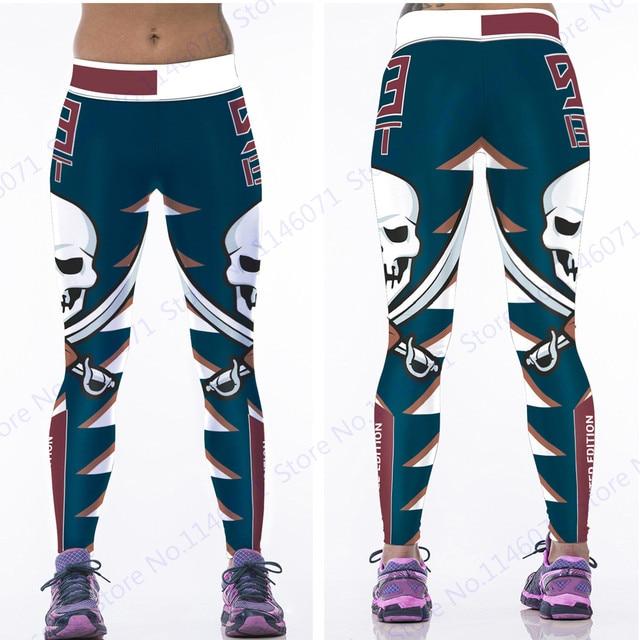 788bf2f7a9f4f5 Brown Leopard Skeleton Sports Yoga Pant
