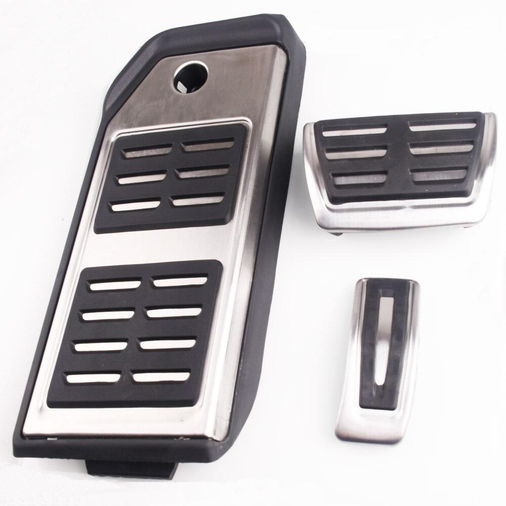 Car Fuel Brake Footrest Pedal Case For Audi Q7 2015 2016