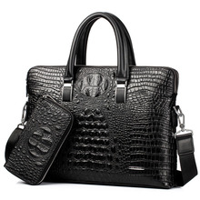 Brand Briefcase Men Handbag PU Leather Men's Business Bags Large Capacity Should