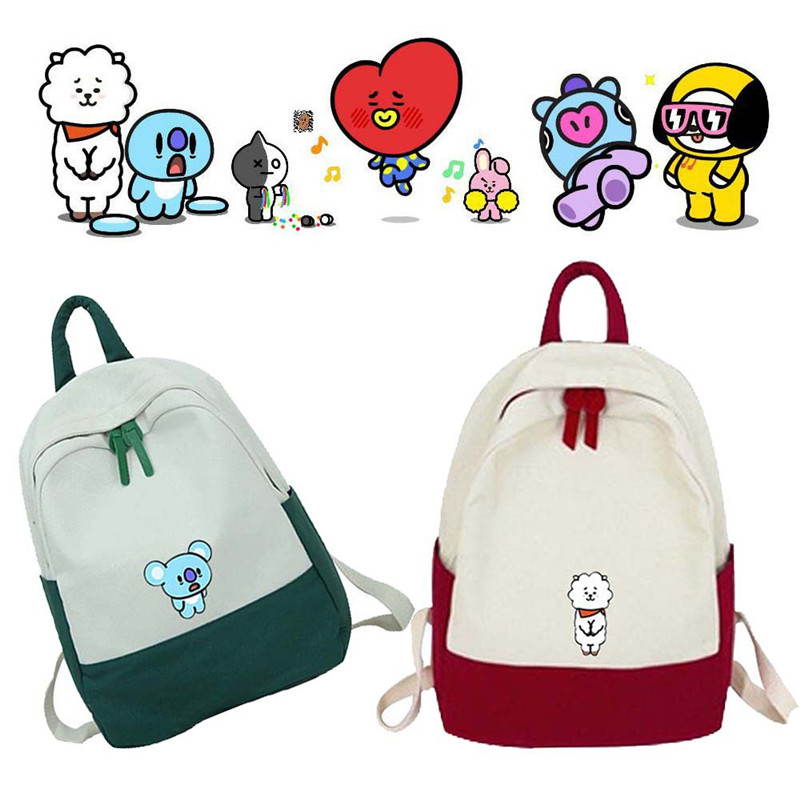 Kpop Bts Backpack School Bags For Teenage Girls Boys Bt21 Cartoon Print Bag Tata Excellent Quality Kids & Baby's Bags