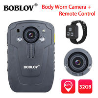 BOBLOV HD31 D 32 ГБ Ambarella A7 тела Камера gps полиция удаленного Управление 33MP 10 м Ночное видение 1296 P HD видео камера Регистраторы IP66