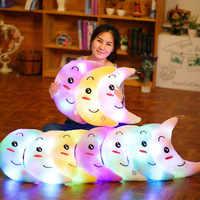 SAILEROAD Glow In The Dark Spielzeug kinder Luminous Mond Weiche Angefüllte Plüsch Baumwolle Kissen Spielzeug Led Licht Glowing Kissen Kind geschenk Spielzeug