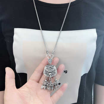 V.YA S925 Sterling Silver Pendant Necklace Woman Retro Tassel Sachet Necklaces with Chain Women Elegant Jewelry Gift