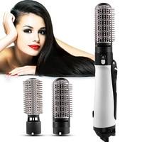 Um passo secador de cabelo e volumizer anti escald secador de cabelo 2 em 1 escova de ar quente ferramenta de estilo de cabelo salão de beleza íon negativo pente de cabelo|Secadores de cabelo| |  -
