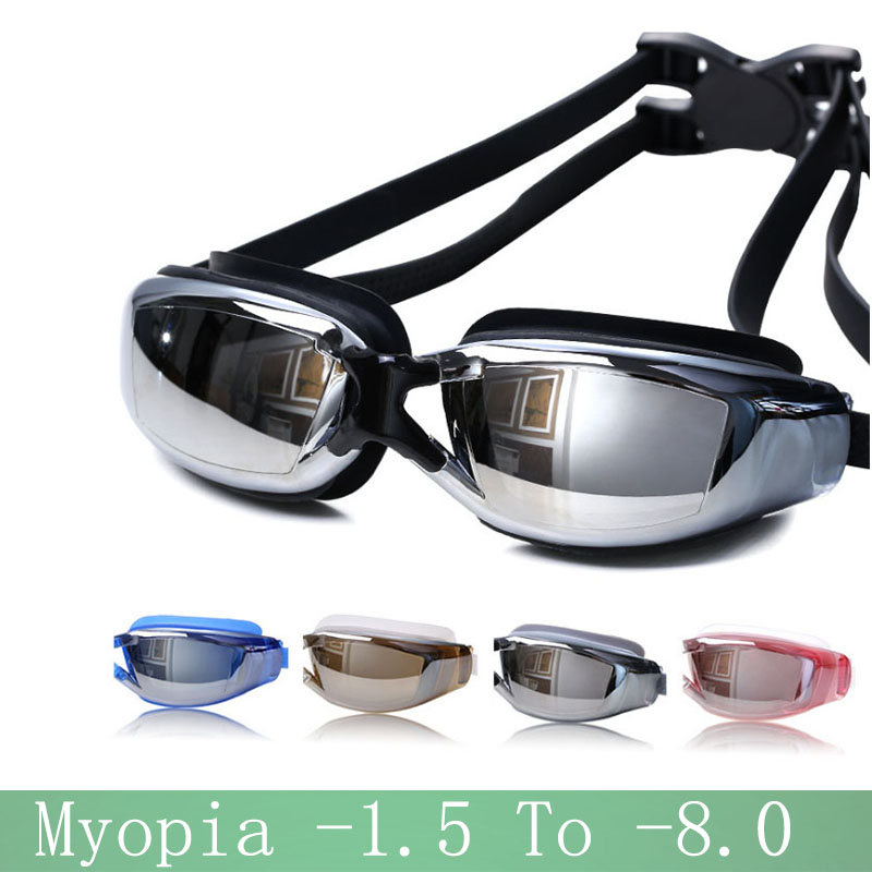 2018 New Swimming Glasses Myopia Anti-fog Professional Adults Silicone Waterproof Arena Swim Eyewear Sea Summer Diving Goggles
