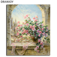 DRAWJOY Framed Pictures DIY Oil Painting By Numbers Home Decor For Living Room Wall Art G134