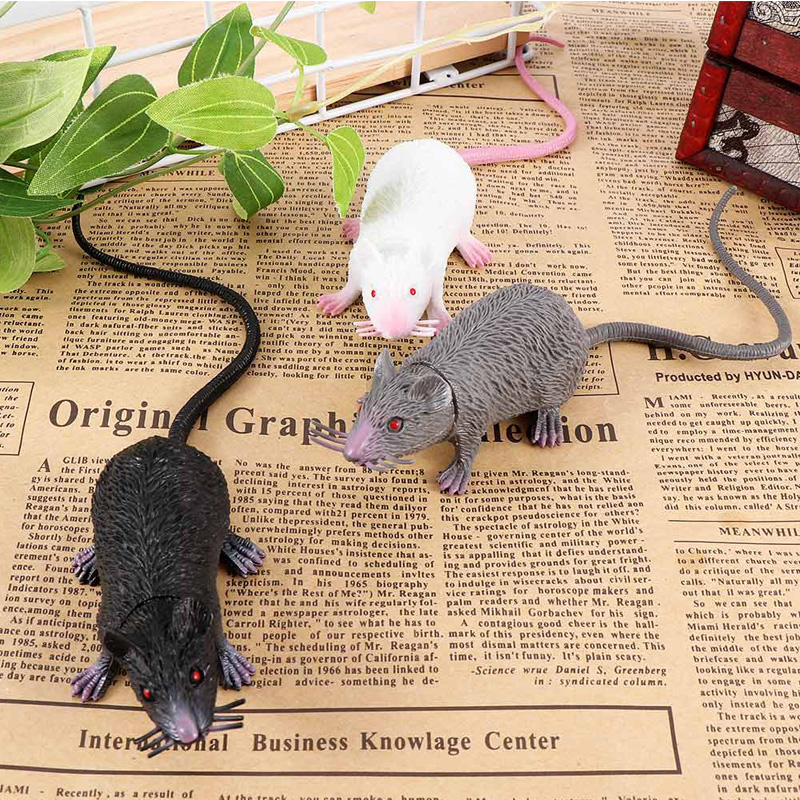 PVC Simulation Mouse Funny Tricky Joke Fake Lifelike Mouse Model Prop Halloween Gift Toy Party Decor For Kids Novelty & Gag Toys