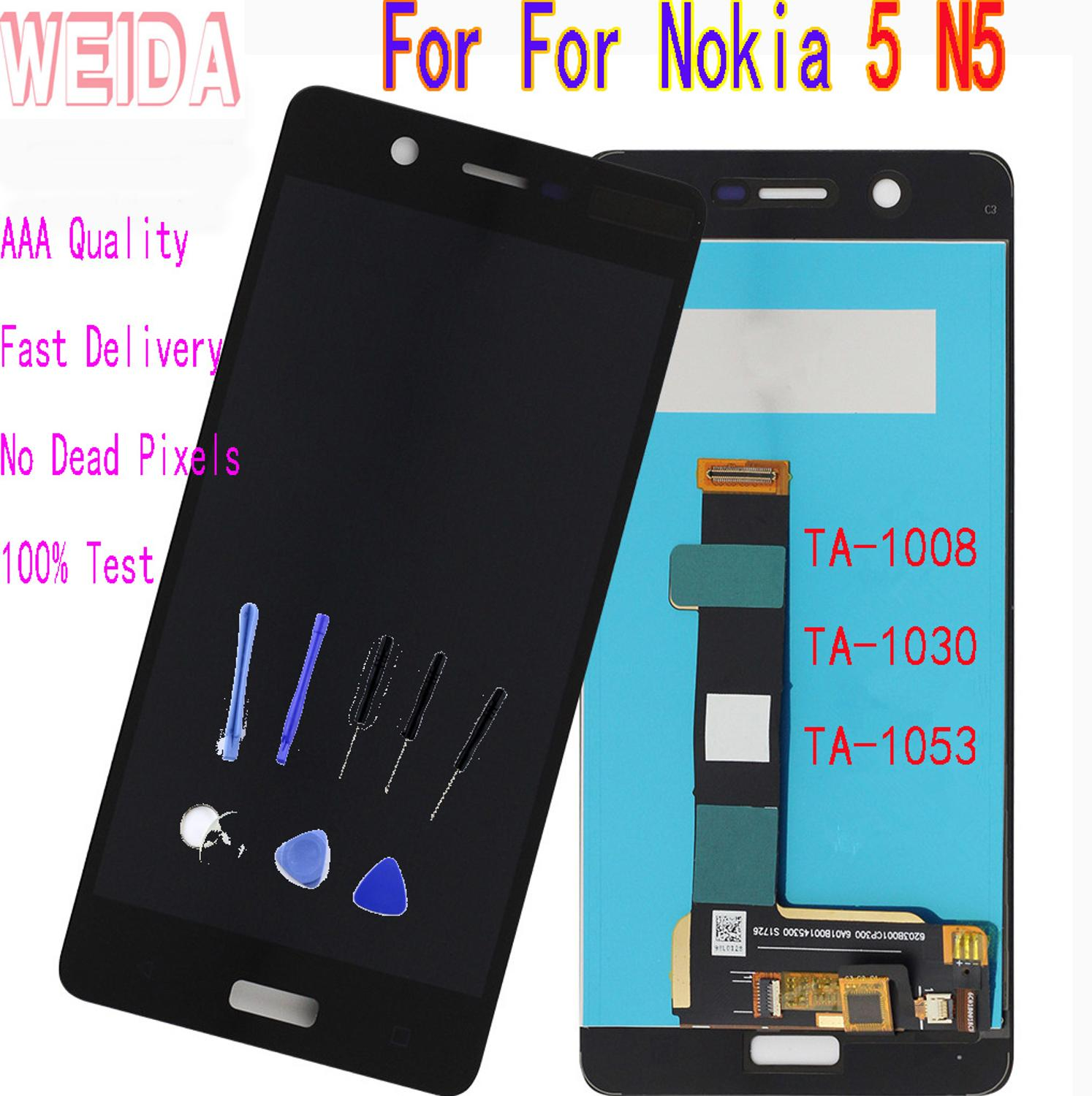 WEIDA For <font><b>Nokia</b></font> <font><b>5</b></font> N5 TA-1008 TA-<font><b>1053</b></font> TA-1030 LCD Display Touch Screen Digitizer Assembly Frame with Tool image