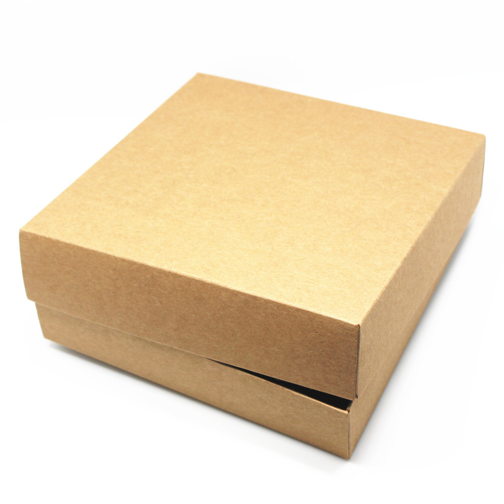 Craft hat boxes - 10pcs Lot 17 17 4cm Jewel Packaging Kraft Paper Box With Hat Paperboard Boxes Diy Gift Craft Package Box With Paper Lid