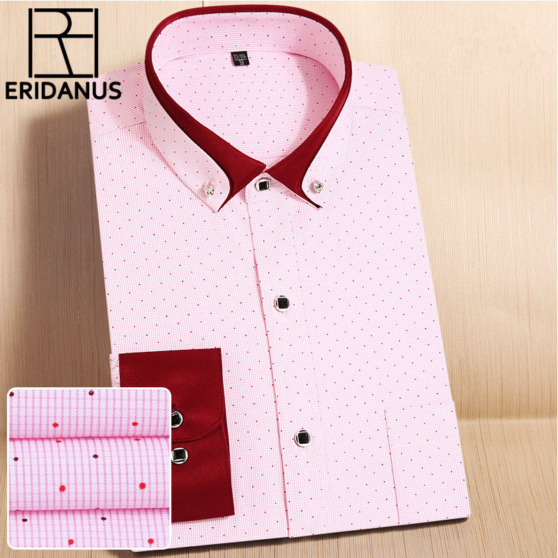 High Quality Brand Men's Classic Striped Shirt New Leisure Fashion Soft Long Sleeve Office Men Business Social Shirts M568