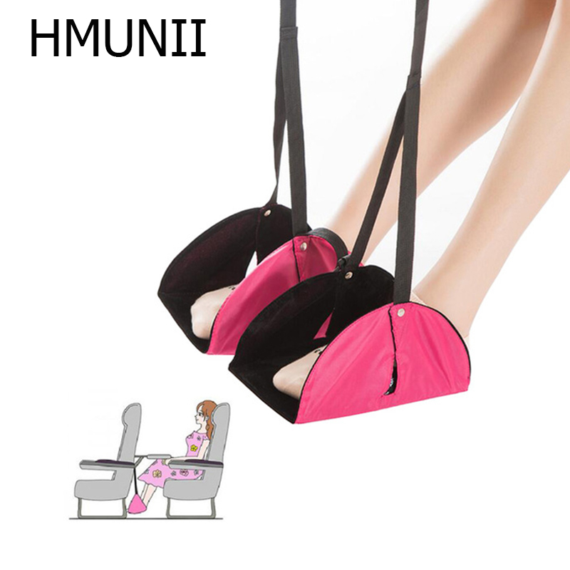 HMUNII Portable Travel Aviation Seat Foot Pad Train Practical Adjustable Stand Foot Rest Feet Hammock Travel Accessories HM8-112