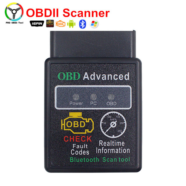 Top Selling OBDII Scanner ELM327 OBD2 Bluetooth Auto Diagnostic Tool Works On Android Torque With 16 Pins Scanner Tool