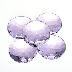 Image 2 - JUNAO 20pcs 52mm Large AB Crystal Rhinestone Round Big Strass Diamond Flat Back Acrylic Gems Non Sew Crystal Stones DIY Crafts