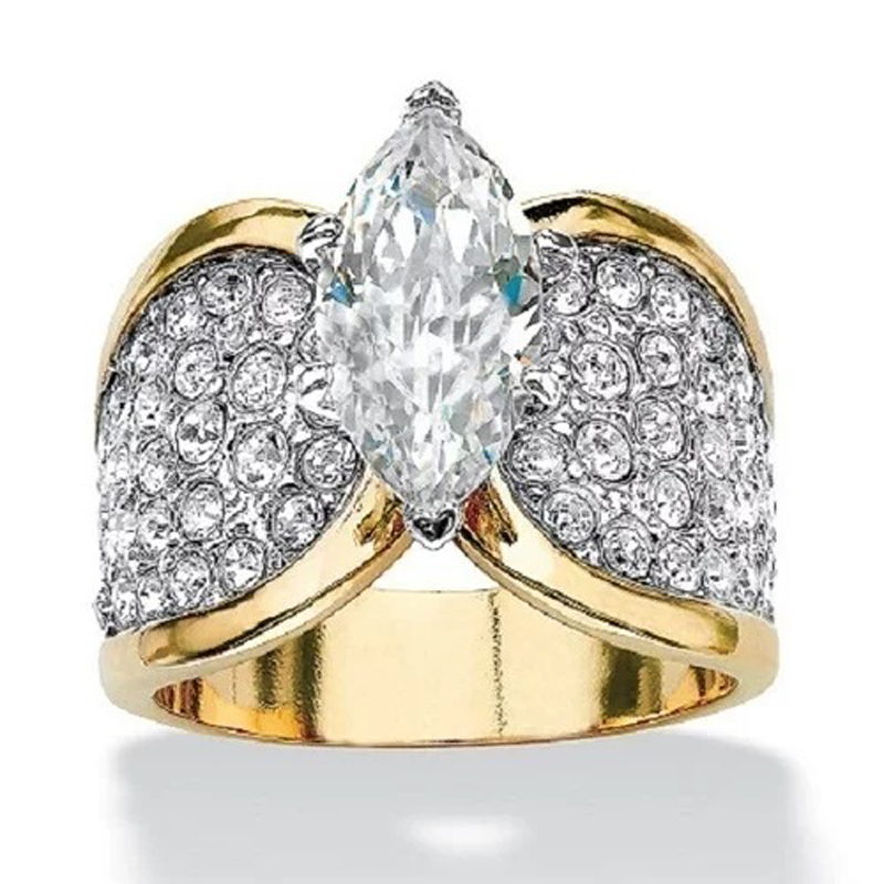 Fashion Designer Jewelry Rhinestone Luxury Rings With AAA