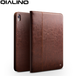 QIALINO Business Genuine Leather Case for iPad Pro 12.9 2018 Ultra Thin Luxury Handmade Stand Cover for Apple ipad pro 11 inch