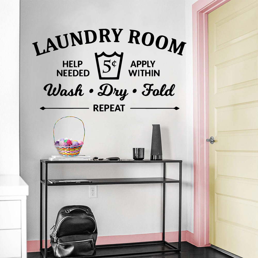 Funny Laundry Room Family Wall Stickers Mural Art Home Decor Kids Room Nature Decor Diy Pvc Home Decoration Accessories