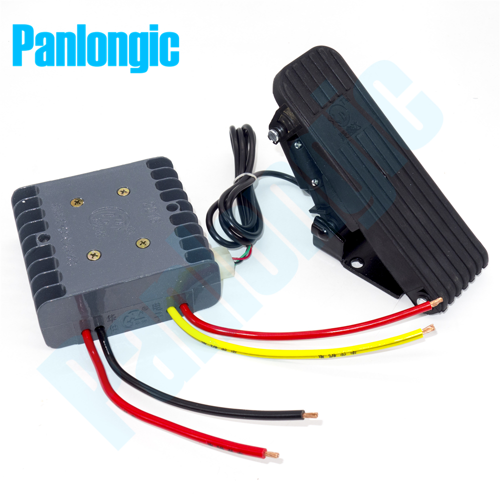 Panlongic 24V/36V 30A DC Brushed Motor Speed Control PWM Controller 1000W with Hall Foot Pedal Accelerator panlongic hand twist grip hall throttle 100a 5000w reversible pwm dc motor speed controller 12v 24v 36v 48v soft start brake
