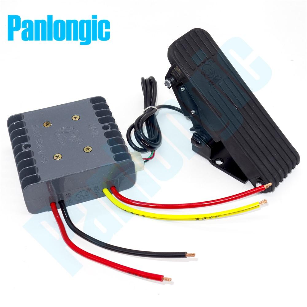 panlongic pedal de motor escovado 24v 36v 30a dc controle de velocidade pwm com hall e
