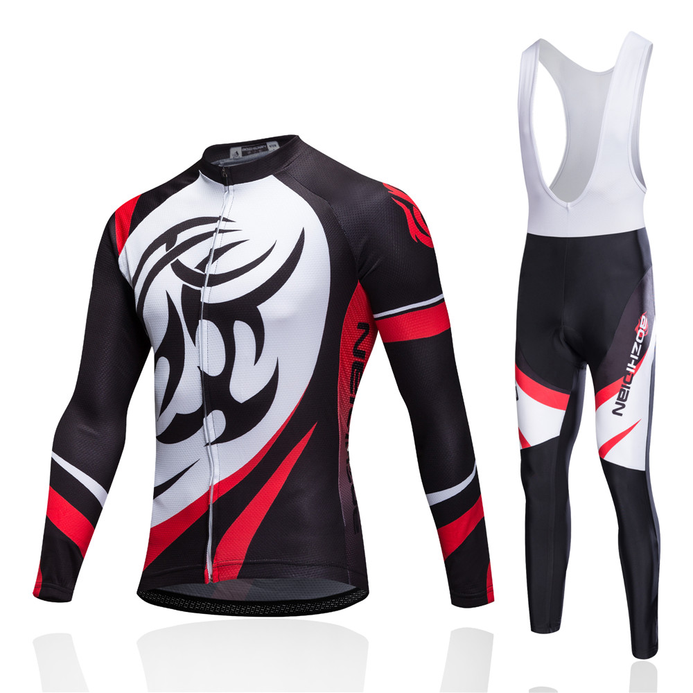 2017 Brand Long Sleeve Cycling Jersey Bib Pants Mtb Bicycle Clothes Set Ropa Maillot Wear Road Mountain Bike Clothing Set Kits santic cycling pants road mountain bicycle bike pants men winter fleece warm bib pants long mtb trousers downhill clothing 2017