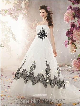 Aliexpress.com : Buy Popular White Black Lace Wedding Black and ...