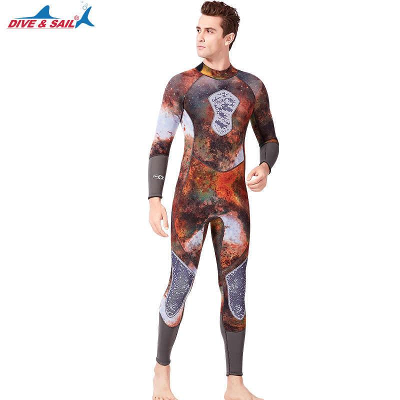 Uzun kollu tüplü dalış giysisi yüzme Wetsuit sörf triatlon mayo erkekler kadınlar çift su sporları tam Bodysuit ekipmanları