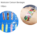 Venda quente 100 PCS Dos Desenhos Animados Ataduras Estéril Band-aid Hemostase Adesivos Ferida Curativos de Primeiros Socorros Para Crianças dos miúdos