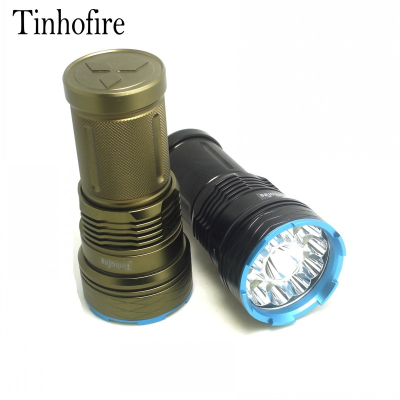 Tinhofire 20000 lumens King 12T6 LED flashlamp 12 x CREE XM-L T6 Tactical Portable Led Flashlight Hunting Lamp Flashlights Torch tinhofire t3 t4 t5 t6 t7 t8 t9 t10 t11 t12 cree t6 led 4000 20000 lm led torch camping flashlight lamp with battery and charger