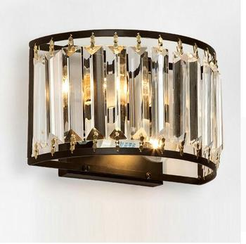 Modern Crystal Wall Sconces Up Down Wall Lamp Vintage Loft Style Wall Lights Fixtures for Home Bedside Bedroom Stairs Lighting